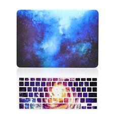 "Blue Galaxy Graphic Matte Case + Keyboard Skin for MacBook Air 13"" A1369 & A1466"