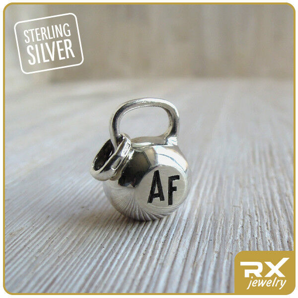 Fitness gift Kettlebell Engraved Charm Bodybuilding Weightlifting Crossfit