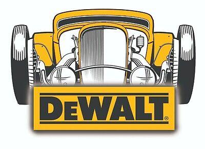 DEWALT TOOLS STICKER DECAL HOT ROD GARAGE USA MECHANIC GLOSSY LABEL TOOL BOX