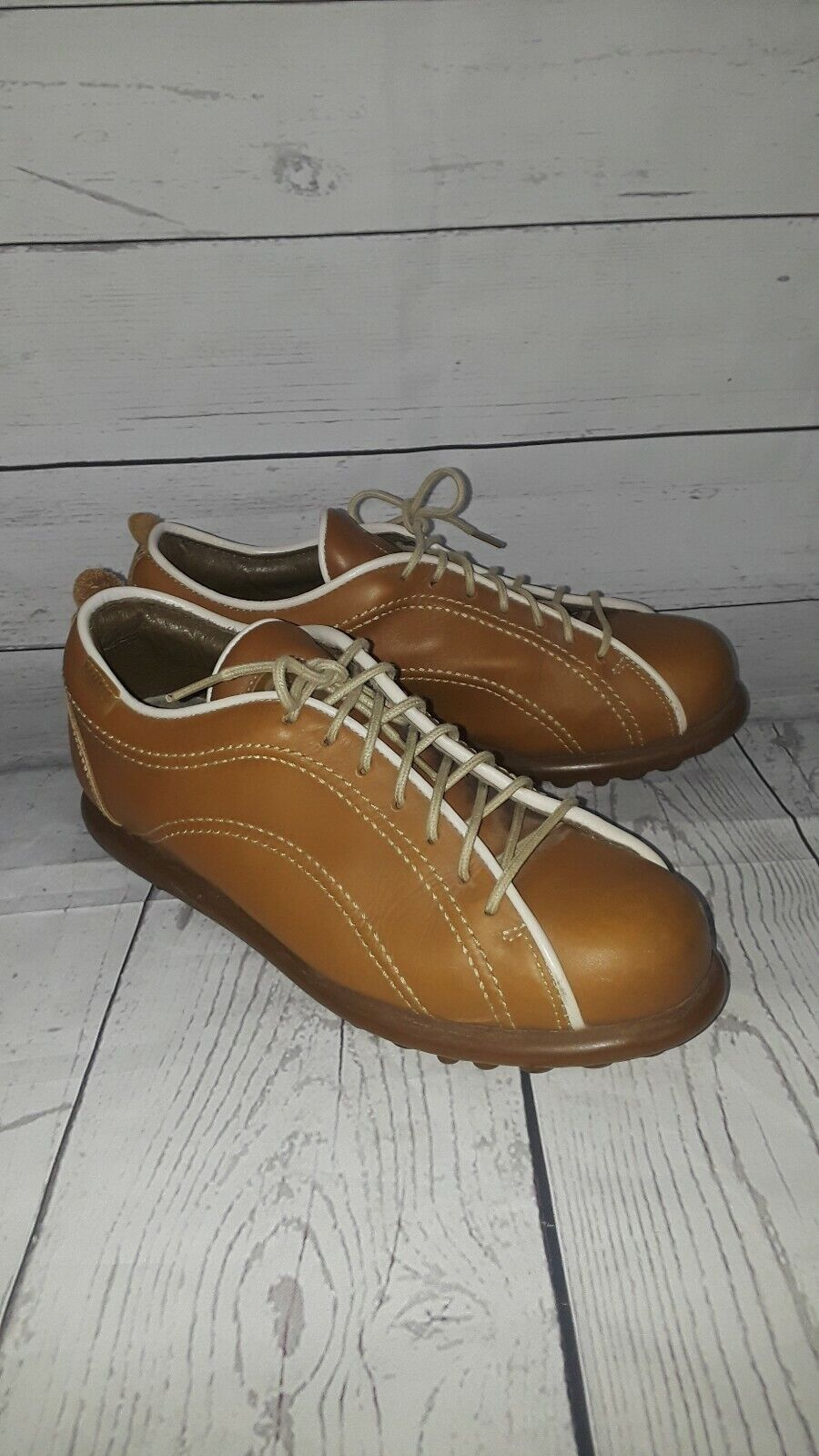 CAMPER women shoes sz 8.5 Europe 39 orange leather 03793 040 GT