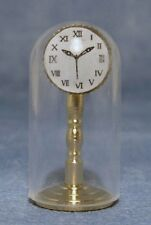 """DOLLS HOUSE 1/12 SCALE """"GOLD"""" CLOCK IN DOME"""
