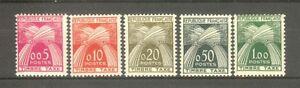 FRANCE-STAMP-TIMBRE-TAXE-N-90-94-034-SERIE-GERBES-1960-034-NEUFS-xx-TTB-A152C