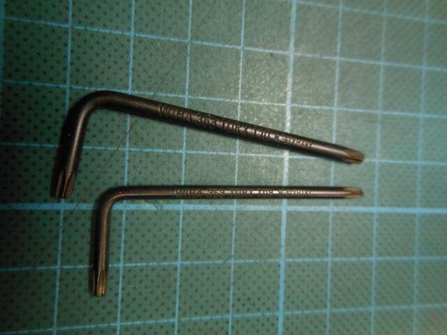 2 Stück WIHA 363 Stiftschlüssel Torx kurz; (T08 x 47 + T10 x 54); NEU
