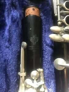 Vintage-Professional-Cuesnon-Monopole-A-Clarinet-Grenadilla-Wood