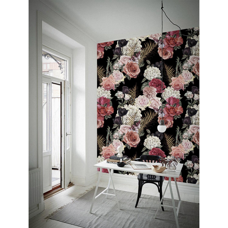 Dark Garden pinks Non-Woven wallpaper Wall Home decor Traditional Meadow Mural