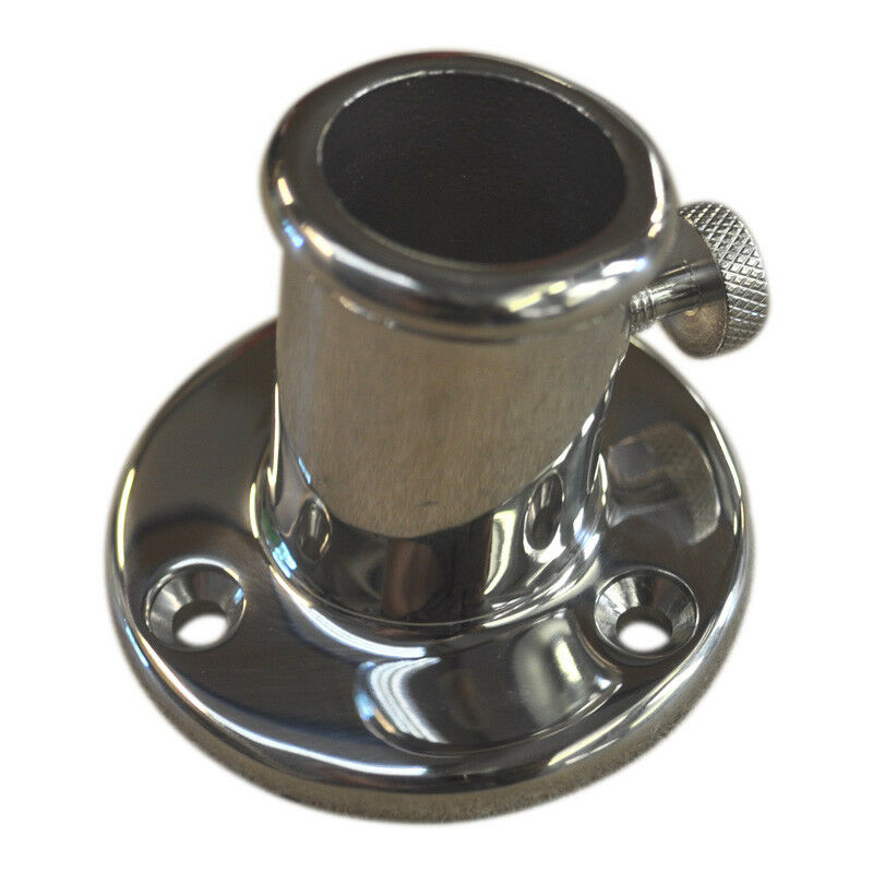 Boat Flag Pole Mounting Holder   316 Stainless Steel, With Screw, 26mm Diameter