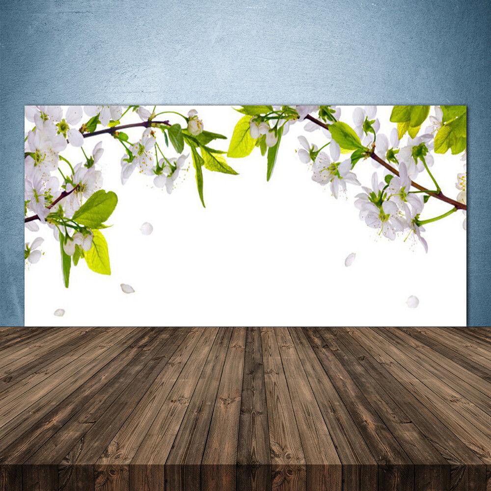 Crédence de cuisine en verre Panneau 140x70 Nature Fleurs Feuilles
