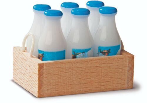 Milchtragl con 6 bottiglie di latte 27319 Bodo Hennig Casa Delle Bambole bambole tube