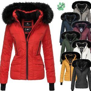 huge selection of 6f3ee a3d69 Details zu Navahoo Adele Damen Jacke Winter Jacke Parka Kurz Mantel  Damenjacke Fellkragen