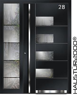 HAUSTÜR2000® Aluminium Haustür Alu Haustüren Edelstahl Tür Glas Advance