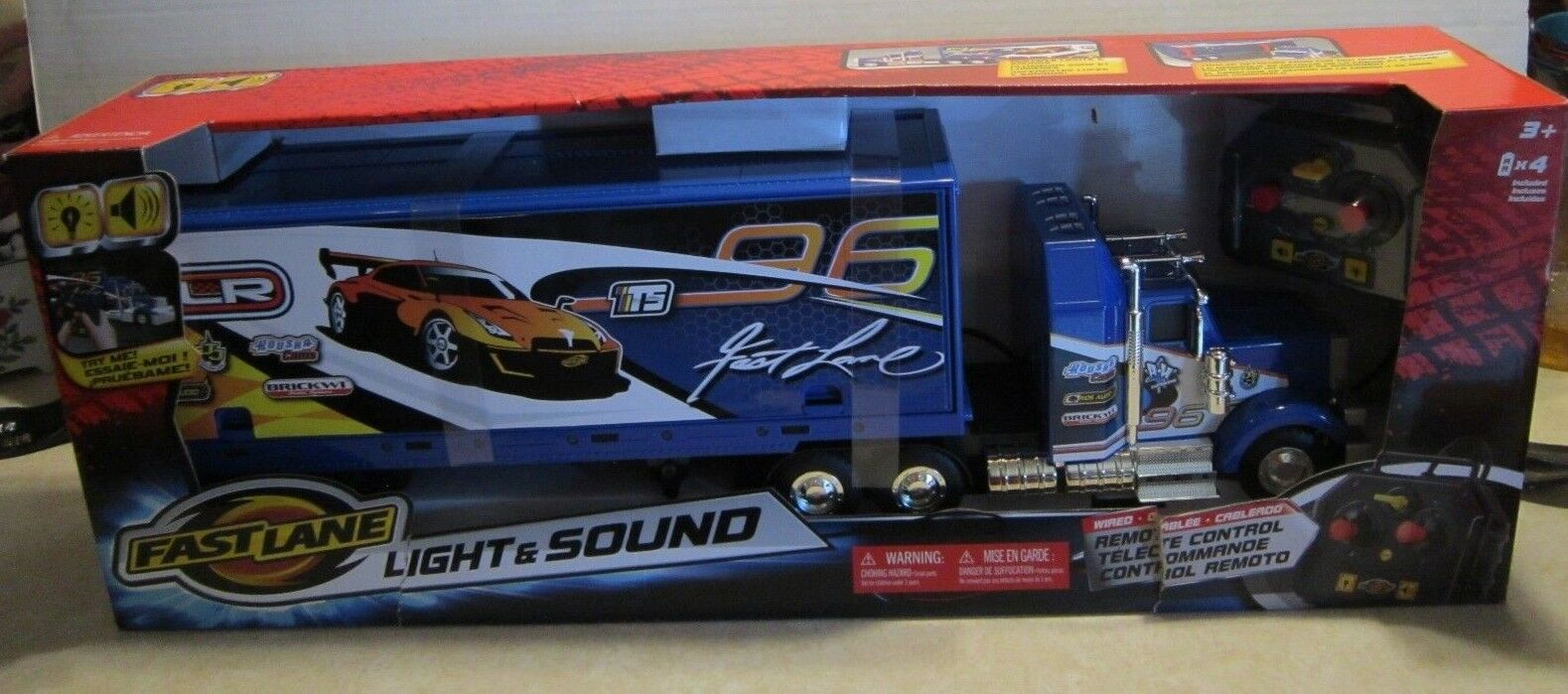 Fast Lane Lights & Sounds Remote Control RC Big Rig MIB NEW Works  F801