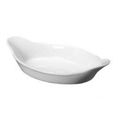 "Dudson 9/"" Black Serving Sole Dish Eared Veg Vegetable Side Bowl Tapas Platter"
