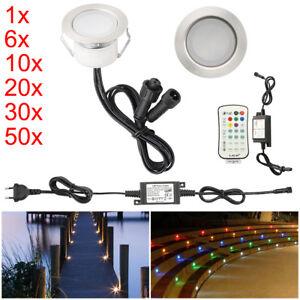 30mm WIFI BT Kontroller LED Einbaustrahler Außenlampe Beleuchtung Terrasse Spot