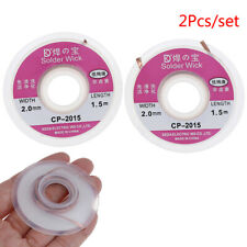 New Listing2pcs Solder Wick Remover Desoldering Braid Wire Sucker Cable Fluxed Flu O