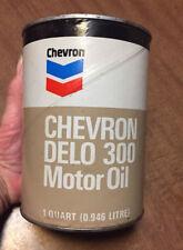 Lot of 3! Vintage Chevron Delo 100 One Quart Motor Oil FULL NOS Unopened