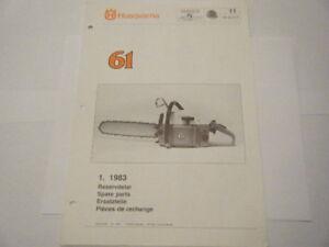 OEM HUSQVARNA NEW 1983 61 OPERATOR'S MANUAL | eBay
