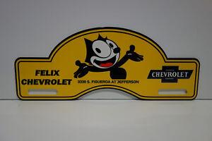 CHROME PRETTY IN PINK- INSERTS License Plate Set Felix Chevrolet- Plastic