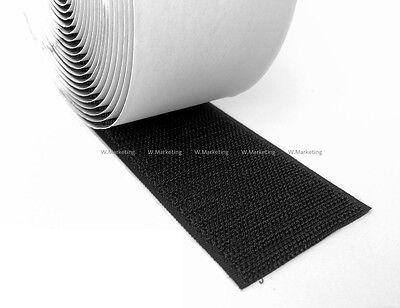 """2 Yards 6/""""-Wide Black Self Adhesive HOOK ONLY Tape Fastener BAV150"""