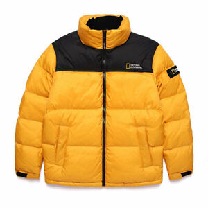 National-Geographic-Mens-Bison-RDS-Duck-Down-Short-parka-Jacket-Yellow