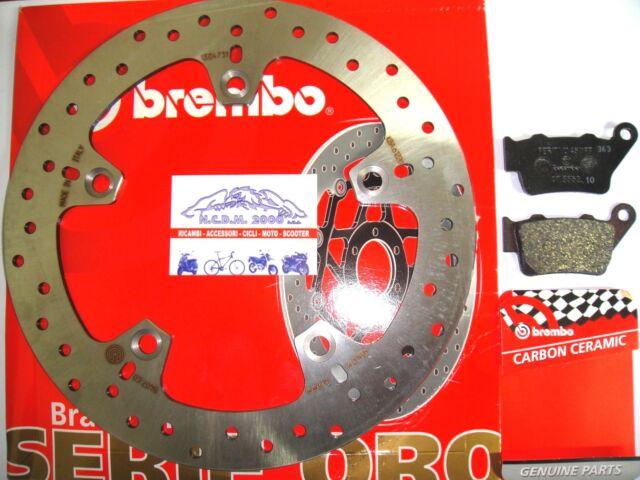 DISC REAR BRAKE BREMBO 68B407C0 + PADS 07BB0235 BMW F 800 ST 2014