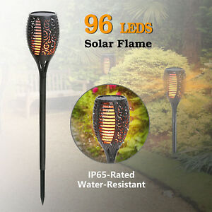 96-LED-Solar-Torch-Light-Flickering-Dancing-Flame-Garden-Waterproof-Yard-Lamp