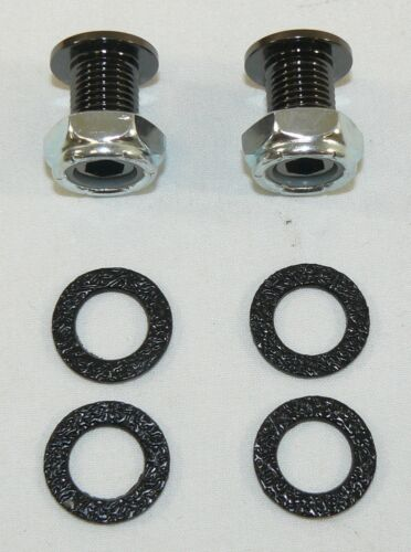 """NEW 3//8/"""" Black Air Vent Set Of 2 /& Gaskets Washers for Bass Tom Snare Drum Kit"""