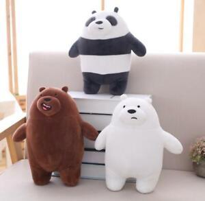 "12/""//20/"" Bear Plush Toy Cartoon We Bare Bears Stuffed Soft Toy Doll Gift Pillow"