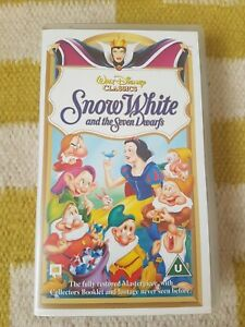DISNEY-Snow-White-and-the-Seven-Dwarfs-VHS-Video-Tape-Near-Mint-PAL
