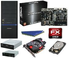 AMD FX-8350 CPU ASROCK COOLER MASTER 500W 16GB DDR3 RAM 1TB HDD HD 7750 DVDRW PC