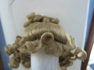 SIZE  7  LIGHT BLONDE ROBYN SYNTHETIC MOHAIR WIG ANTIQUE MODERN DOLL