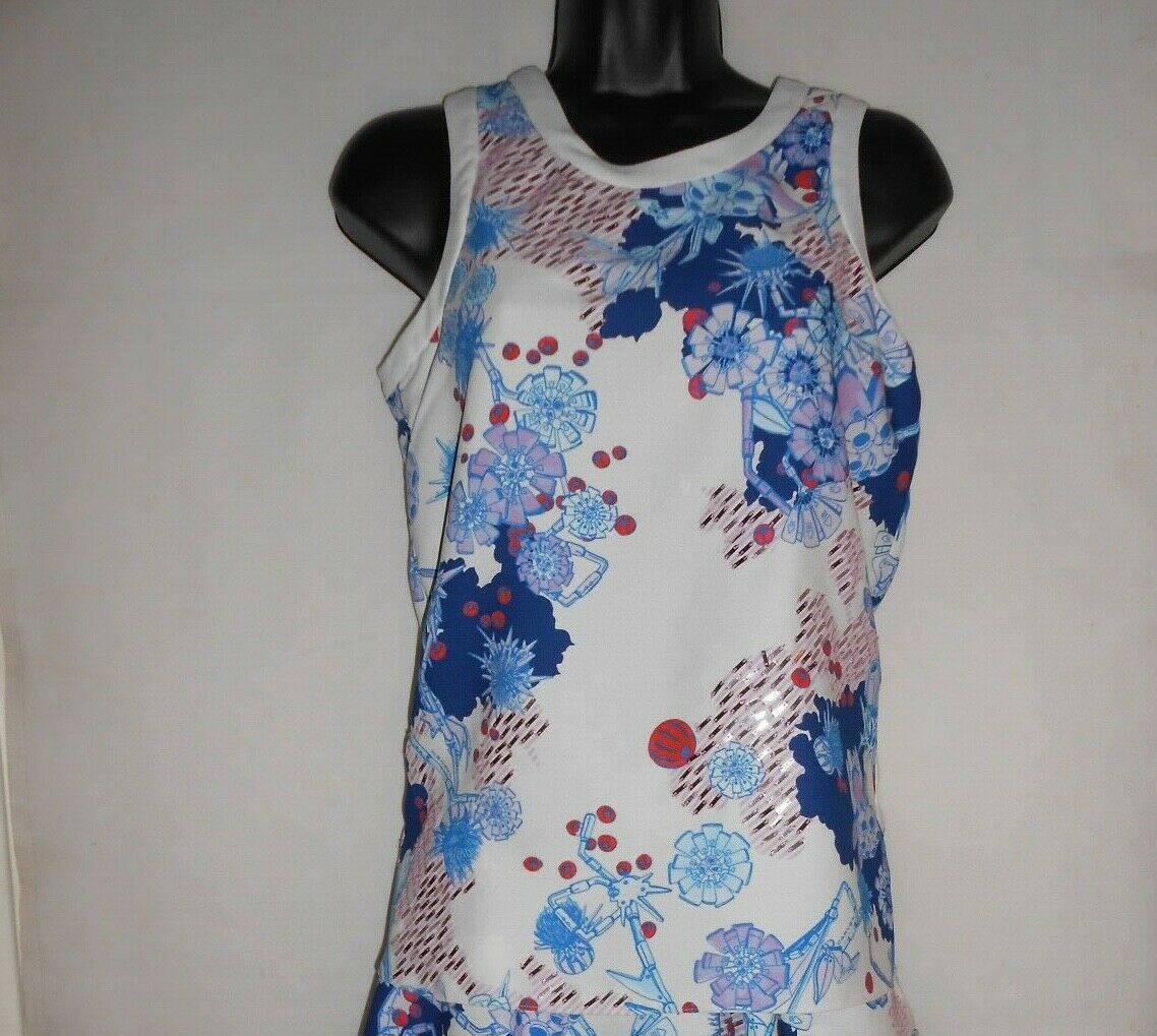 New Carven Blau  tank top FR36 UK8  RRP