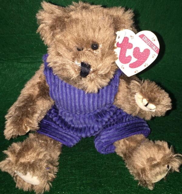 Ty Beanie Baby Attic Treasure Christopher Teddy Bear Corduroy Overall 6071 Plush & Ty Beanie Baby Attic Treasure Christopher Teddy Bear Corduroy ...