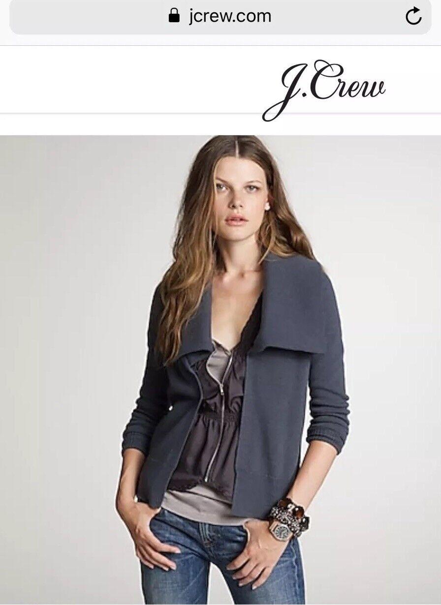 JCrew Open Shawl Collar Cardigan, XS, Storm Grey,  118.00, Fall 2010