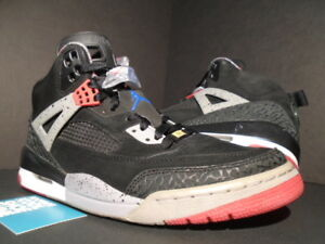 meet 29879 cdae7 Image is loading NIKE-AIR-JORDAN-SPIZIKE-BLACK-FIRE-RED-CEMENT-