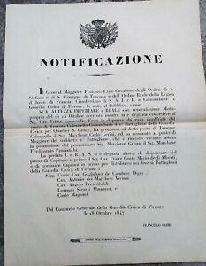 1847-FIRENZE-NOTIFICAZIONE-FRANCESCO-CAIMI-NOMINA-UFFICIALI-DELLA-GUARDIA-CIVICA