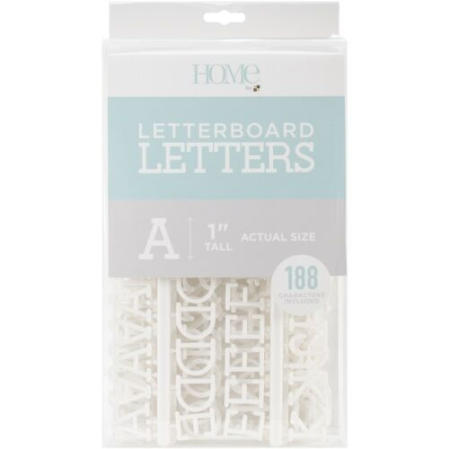 """Dcwv Letterboard Letters /& Characters 1/"""" 188//pkg-white"""