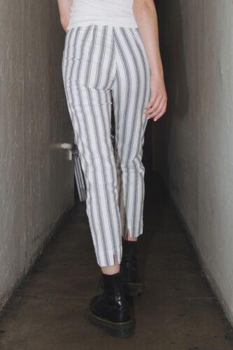 New brandy melville white//blue striped high rise tilden pants NWT sz S//M