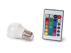 image is loading led light bulb spot e27 rgb multicolor and - Spot Led Multicolore