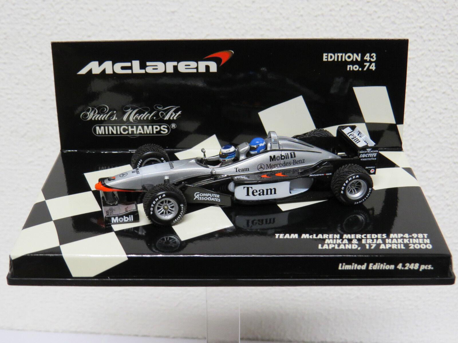 McLaren MP4 98T Mika & Erja Hakkinen Lapland, 17 April April April 2000 Nr. 530984378 1dee41