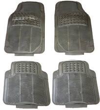 4 Piece Waterproof Heavy Duty BLACK Rubber Front & Rear Car Non-Slip Floor Mats