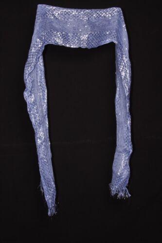 Sciarpa Blu Filo W Metallic /& Shiny piccole paillettes Multi occasione per Ragazze S231