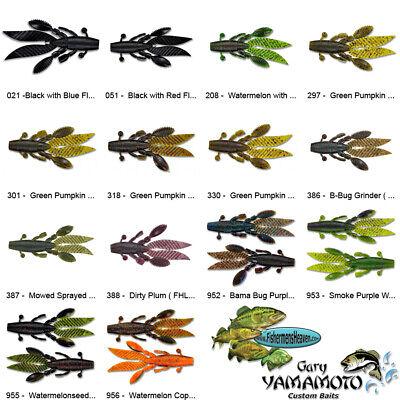 Yamamoto Flappin Hog FHL-05-051 Black Red Flake 4.5 Inch Craw Creature Bait