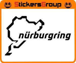 ADESIVO CIRCUITO NURBURGRING PER MOTO AUTO  CASCO SCOOTER TUNING