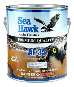 Sea hawk af 33 ablative bottom paint gl black ebay for Seahawk boat paint