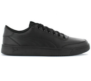 Puma Court Breaker L Mono Men s Sneakers Shoes Leather Black ... 1a56e1e21