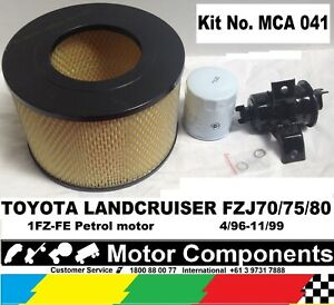 FILTER-KIT-for-LANDCRUISER-FZJ70-FZJ75-FZJ80-1FZ-FE-eng-4-96-11-99-OIL-AIR-FUEL
