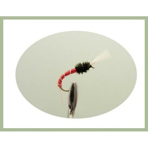 Buzzers for Fly Fishing 6 Pack Thoraxed Red Buzzer Trout Flies Choice of Sizes,
