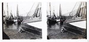 Francia Port Barche Foto Stereo Placca Da Lente Th4L6n8 Vintage