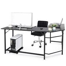 66 L Shaped Desk Corner Computer Gaming Laptop Table Workstation Home Office
