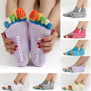 Women-Yoga-Gym-Socks-Sport-Fitness-Pilates-Socks-Five-Toe-No-Slip-Massage-Warm